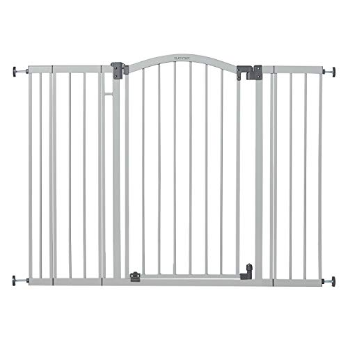 Summer Infant Extra Tall & Extra Wide Safety Gate, 29.5 - 53 Inch Wide & 38' Tall, for Doorways & Stairways, with Auto-Close & Hold-Open, Grey