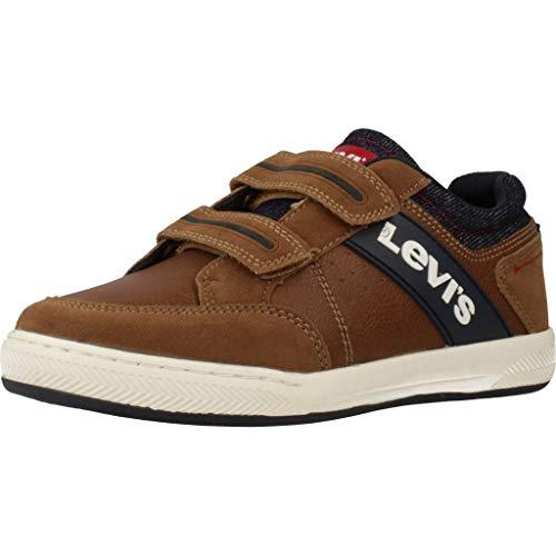 Zapatillas para ni�o, Color marr�n (0241COGNAC), Marca LEVI'S, Modelo Zapatillas para Ni�o LEVI'S VCLU0031S Marr�n