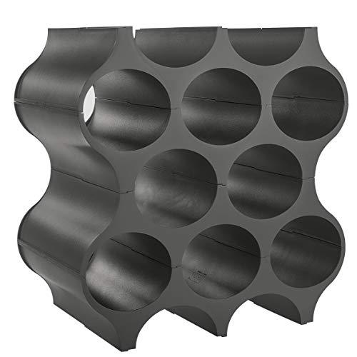 Koziol Set-UP - Botellero de plástico 23 x 35.3 x 36.4 cm, Deep Grey