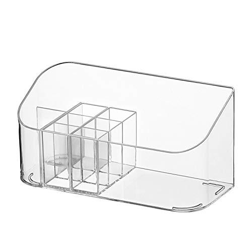 GFFTYX con Compartimento Caja De Maquillaje Alfombra Antideslizante Organizador Joyería Escritorio Ahorra Espacio El Plastico Utilizado En Paletas Pinceles Bases Lápices Labiales