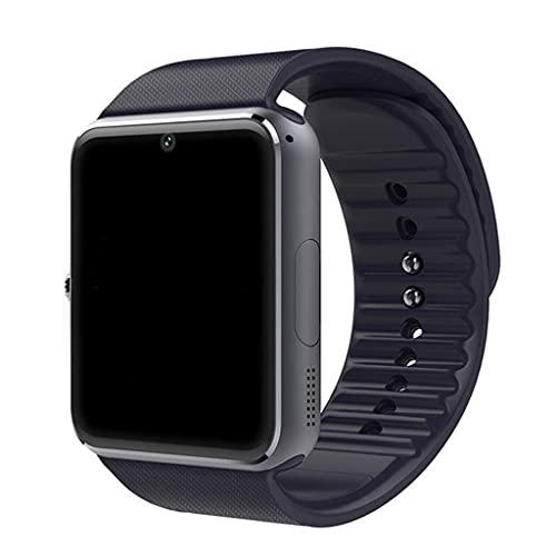AniYY Reloj inteligente para teléfonos Android compatible con iPhone-1.5 pulgadas pantalla táctil smartwatch con recordatorio sedentario podómetro