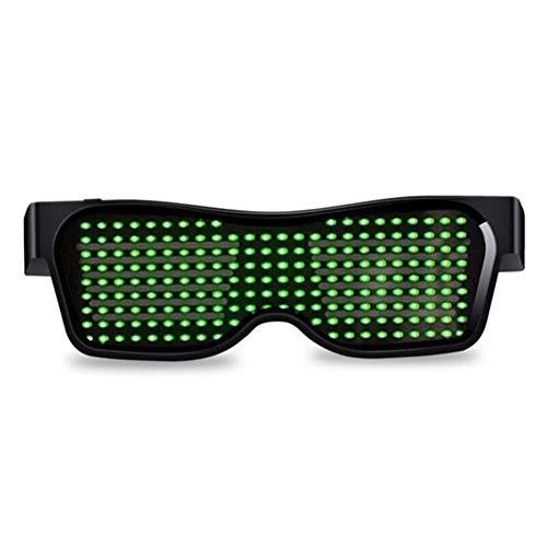 Goodde Party-Brille - Bluetooth LED-Brille mit USB-Lade-Leuchtbrillen für Bühnenauftritte, DJ-Nachtshows, Bundi, Partys, Konzerte