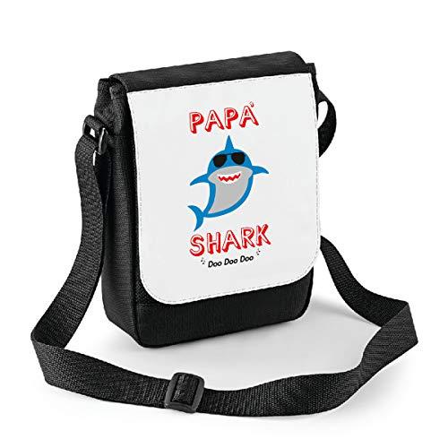 bubbleshirt Mini Borsa a Tracolla Festa del papà papà Shark - papà squalo - Happy Father's Day - Idea Regalo
