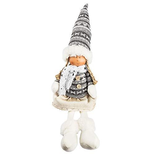 Ideen mit Herz niedliche Winter-Püppchen   Weihnachtswichtel   Weihnachts-Deko   Winter-Kinder   Deko-Puppe (Lilly   mit Schlenkerbeinen   sitzend 28 x 10 x 8 cm)