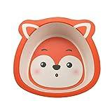 Tomedeks Baby Plate Tablero Infantil Antideslizante, Material Biodegradable Hecho De Fibra De Bambú Natural, Adecuado Para La Mayoría De Los Taburetes De Bebé