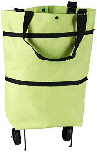 SUOMO Carts/Eco Shopping Bag/Shopping Trolley Bag with wheels, Reusable Foldable Shopping Cart Bags, Removable Large Content Shopping Cart Grocery Bag (Color : 2)