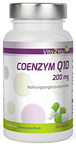Coenzym Q10 - 200mg - 120 Kapseln - Ubichinon - aus pflanzlicher Fermentation - Hochdosiert - Premium Qualität