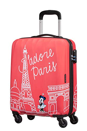 American Tourister Disney Legends Spinner S Valigia per bambini, 55 cm, 36 L, Rosa (Take Me Away Minnie Paris)