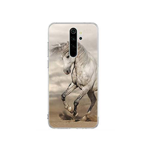 Carcasa de silicona para Xiaomi Redmi Note 8T 9S 6 7 8 Pro 9 Pro 6A 7A 8A 9A 9C K20 K30 Pro Cover running horse-S12-for Redmi 8