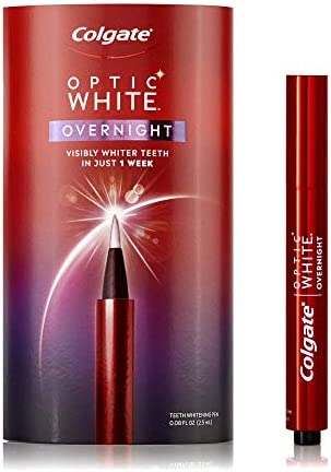 Colgate Optic White Overnight Teeth Gentle Teeth Stain Remover to Whiten Teeth 3 Hydrogen Peroxide product image