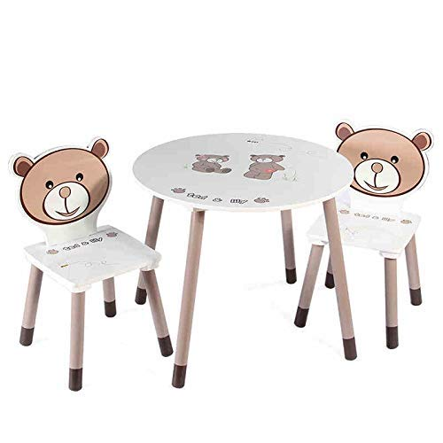 GNLIAN YF-CHEN Chair Home Wooden Table & 2 Chairs - Play Room Table and Chair Set Activity Kids Table