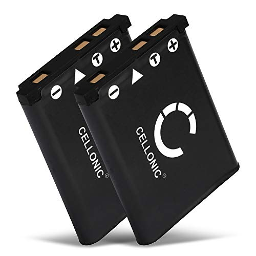 CELLONIC® 2X Batería de Repuesto NP-80 NP-82 per Casio Exilim EX-H15 H5 H50 EX-ZS5 ZS6 ZS20 ZS100 ZS150 EX-Z800 Z550 Z350 Z330 Z33 Z35 Z2 EX-G1, 700mAh NP-80, Accu Sustitución Camara, Battery