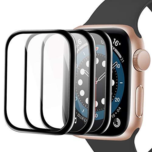 Youmaofa Pantalla Protector Para Apple Watch 44mm Series 6 5 4 SE, (3 Pack)3D Curvo Bordes Completo Cobertura HD Protectora Película para iWatch Series 6 5 4 SE 44mm[Sin Burbujas][Fácil Instalación]