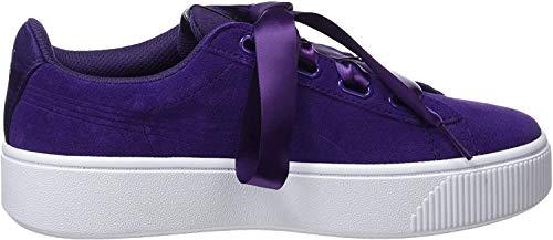 Puma Damen Vikky Stacked Ribbon S Sneaker, Violett (Indigo-Indigo), 39 EU