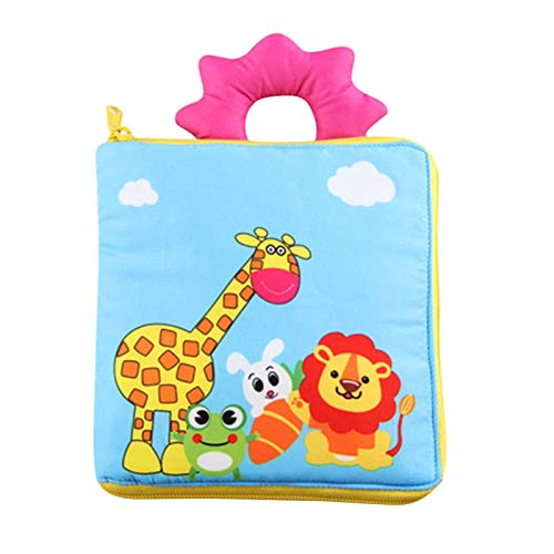 PERFECTHA Doek boeken Baby, Vroege Onderwijs Fun Interactief leren speelgoed voor baby's, Peuters Touch Feel Activity…