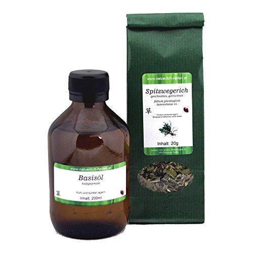 Spitzwegerich Öl Auszug mit Mandelöl