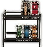 2 Tier Black Snare Utility Rack
