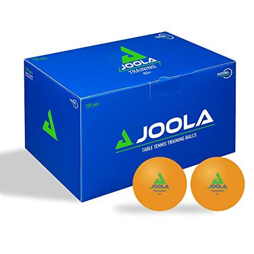 JOOLA Tischtennisbälle Training-40+ mm Durchmesser Premium Tischtennis-Bälle, 120er Orange, One-Size
