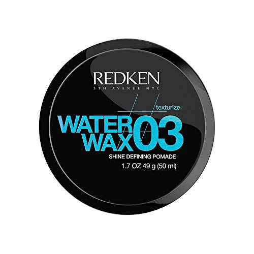 Redken Water Wax 03 | For All Hair Types | Lightweight Defining Pomade Adds Texture & Shine | 1.7 Oz