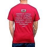 Cymru T-shirt pour homme femme et enfant Motif Pays de Galles Rouge -  Rouge - Small