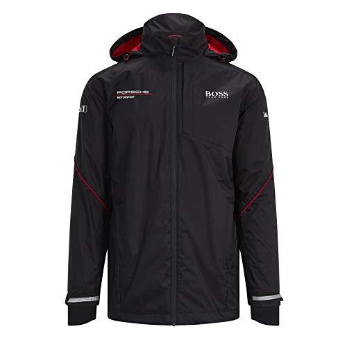 Porsche Motorsport Team Black Rain Jacket w/Motorsport Kit (XL)