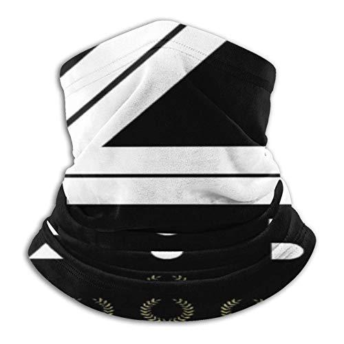 Kuinayouyi Niki Lauda - Braga elástica para cuello de microfibra para hombre y mujer, para la cara, para cubrir la mitad del tubo, versatilidad, bandana para la cabeza, color negro