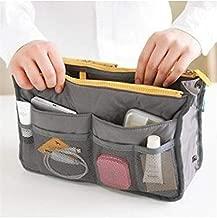Gray Travel Insert Handbag Organizer Purse Multiple Liner Tidy Bag