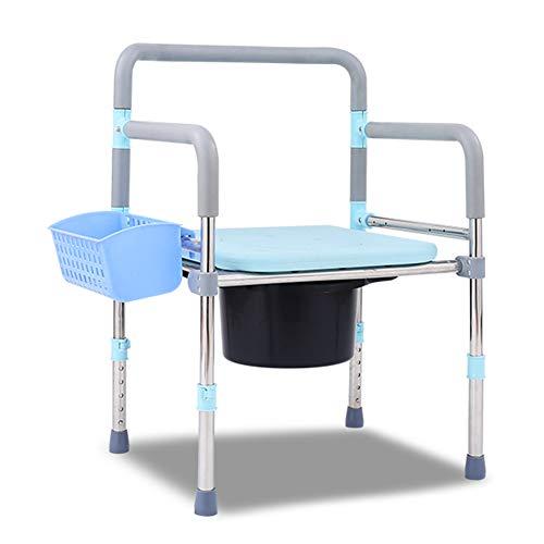 CHEN. Duschhocker, Toilettensitze für Behinderte Schwangere Frauen und ältere Menschen, Mobile Toiletten, können Toilette Hocker gefaltet Werden und kann 250KG tragen