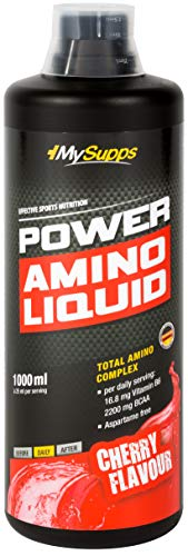 My Supps Power Amino Liquid Cherry/ciliegia, confezione da 1 (1 x 1000 ml)