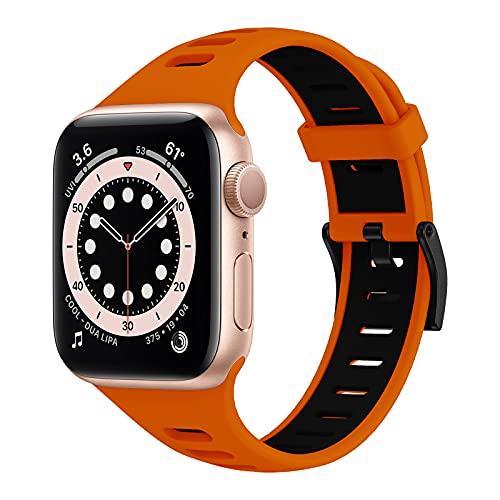 YASPARK Correa Compatible con la Correa Apple Watch 38 mm 40 mm 42 mm 44 mm, Correa Deportiva de Silicona Suave y Transpirable para Hombres y Mujeres, Adecuada para la Serie iWatch 6/5/4/3/2/1 / SE