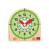 SELVA Reloj de Aprendizaje Madera - para Aprender Las Horas y los Minutos