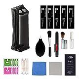 SHTAO Kit de Limpieza de Lentes de cámara Universal Profesional, Cepillo de Limpieza, toallitas para secador de Pelo para Canon, Herramienta de Limpieza de Filtro de cámara Sony
