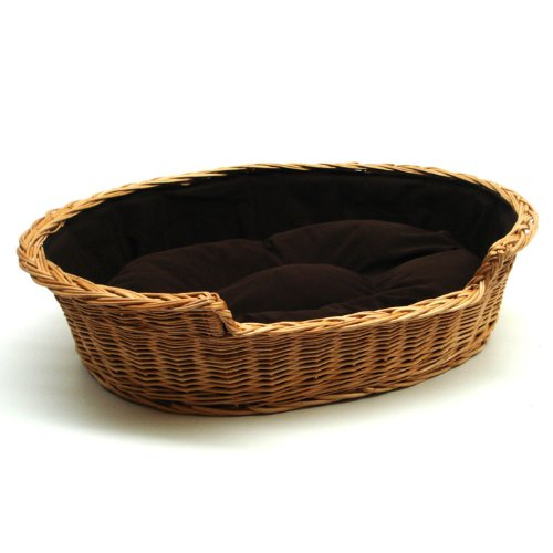Prestige Wicker Dog Bed Basket, Extra Large, Dark