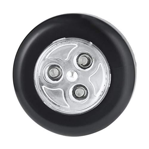 Lodenlli No se Requiere cableado Real Touch Control Lámpara de Noche 3 LED Stick inalámbrico Tap Tap Armario Lámpara táctil Alimentado por batería