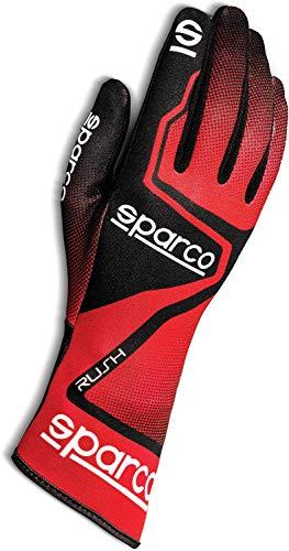 Sparco Unisex Kinder Rush 2020 Karting-Handschuhe, rot / schwarz, 8