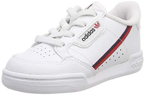 adidas Unisex Kinder Continental 80 I Fitnessschuhe, Weiß (Ftwbla/Escarl/Maruni 000), 23.5 EU
