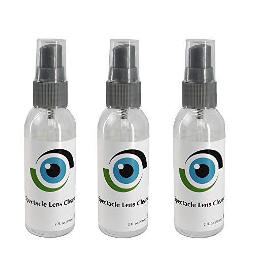 Leader Liquid Linsrengörare 3 x 59 ml/3 x 2 Fl oz Flaskor Glasögon, Kameror och andra linser - Alkoholfri Rengöringslösning Spray - Lämplig för alla beläggningar av Sports World Vision