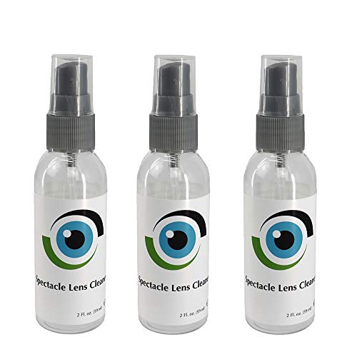Leader Liquid Lens Cleaner 3 x 59ml / 3 x 2 Fl oz Bottles Eyeglasses, Glasses, Cameras and Other Lenses - Alcohol Free Cleaning Solution Spray - Suitable for All Coatings by Sports World Vision