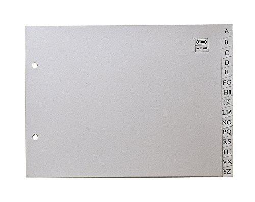 Elba 100580246 - Índice alfabético plástico, 4º
