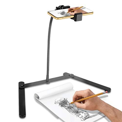 DLOPK三脚一脚 スマホスタンドiPhoneAndroidスマートフォンなどに対応、ミッドレンジ撮影定点撮影角度/高さ調節可能360°角度、折りたたみ式、持ち運びや保管が簡単