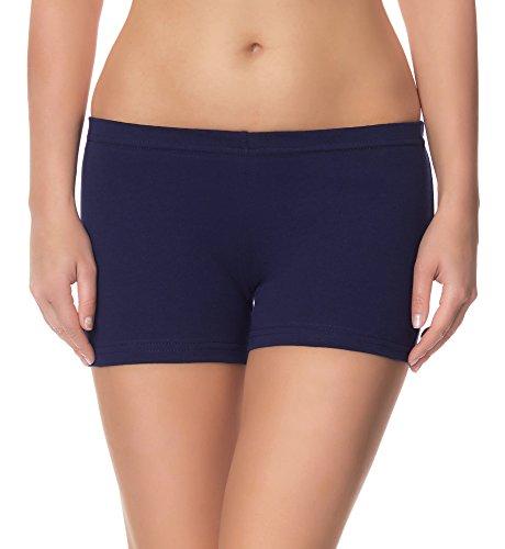 Ladeheid Damen Shorts Radlerhose Unterhose Hotpants Kurze Hose Boxershorts LAMA05, Dunkelblau14, XXL-3XL (Herstellergröße: 44-46)