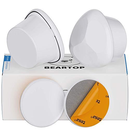 Premium magnetische Schubladen- /Schranksicherung Kindersicherung von BEARTOP | starkes TESA Tape & optionalen Schrauben | inkl. Installationshilfe, Video | Zufriedenheitsgarantie (3 Jahre)*