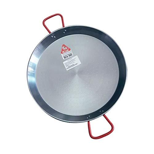 La Ideal polierten Stahl Paella-Pfanne, silber/rot, 22 cm