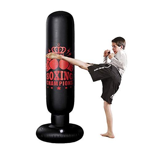 Boxsack Kinder 160cm,Boxsack Erwachsene Freistehender Standboxsack MMA Boxpartner Boxing Trainer Heavy Duty Boxsack mit Saugfuß, Punchingsäcke für Anfänger, Profis, Erwachsene, Jugendliche