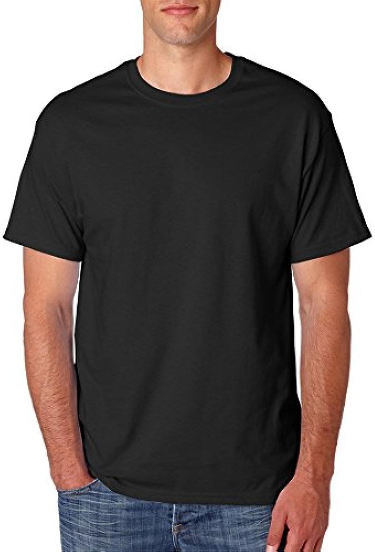 Hanes mens 5.2 oz. ComfortSoft Cotton T-Shirt(5280)-BLACK-2XL-6PK