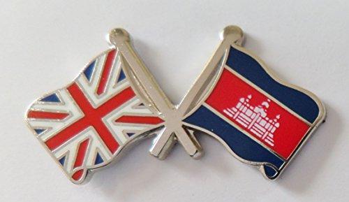 1000 drapeaux du Cambodge et drapeau du Royaume-Uni