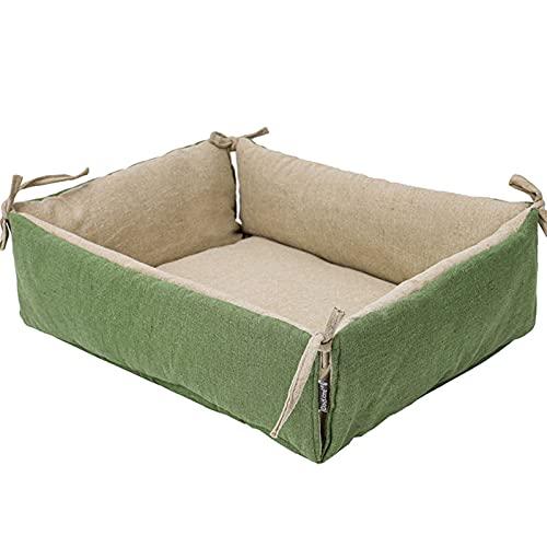 Xingying Colchón para mascotas, estilo natural, linda arena para gatos, lavable, cómoda cama, para perros pequeños y gatos, fácil de limpiar