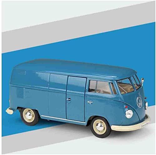 WASHULI Modelo de automóvil de fundición a presión 1972 Volkswagen T2 Autobús Realista Realista 1/24 Modelo Aleación Los Juguetes para niños Pueden Abrir la Puerta Adecuada (Color : Blue)