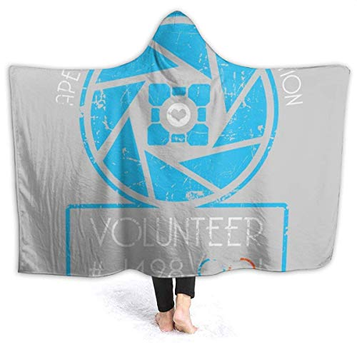 shenguang Manta con Capucha Apperture Science and Innovation Portal Half Life Super Soft Fleece Flannel Throw Blanket Sudadera con Capucha Fit