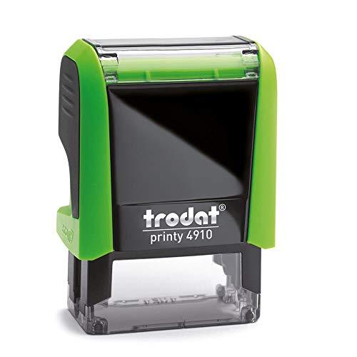 Stempel Trodat Printy 4910 custom (26x9 mm - 3 Zeilen) mit individueller Textplatte Farbe Grün